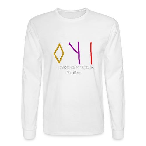 Kyoshin-Tekina Studios logo (white text) - Men's Long Sleeve T-Shirt