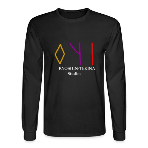 Kyoshin-Tekina Studios logo (white text) - Men's Long Sleeve T-Shirt