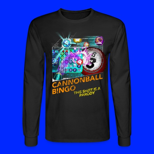 Vintage Cannonball Bingo Box Art Tee - Men's Long Sleeve T-Shirt