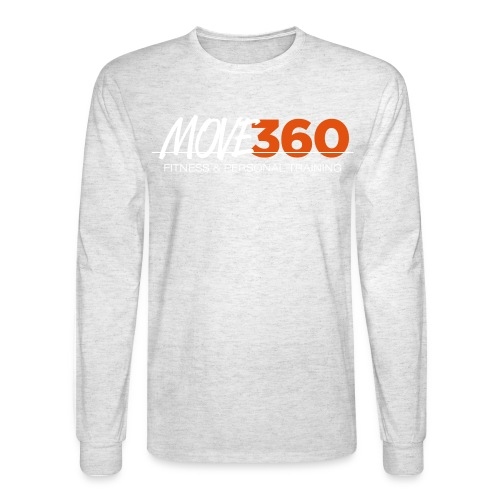 Move360 Logo LightGrey - Men's Long Sleeve T-Shirt