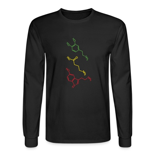 Psychoactive Molecules Tripsit Tshirt - Men's Long Sleeve T-Shirt
