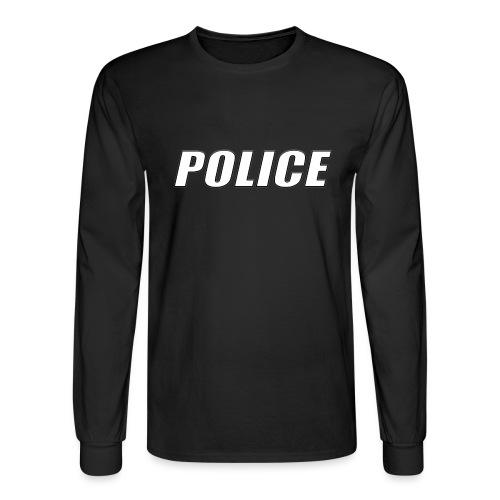 Police White - Men's Long Sleeve T-Shirt