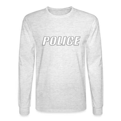 Police White - Men's Long Sleeve T-Shirt