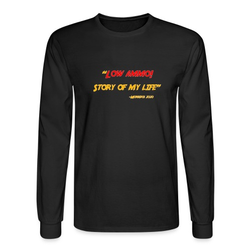 Logoed back with low ammo front - Men's Long Sleeve T-Shirt