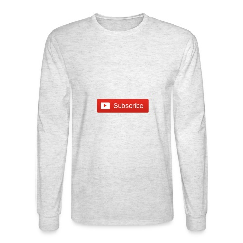 youtube subscribe button 2014 by just browsiing - Men's Long Sleeve T-Shirt