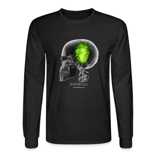 HOPSKULL T-Shirt (Double Sided) - Men's Long Sleeve T-Shirt