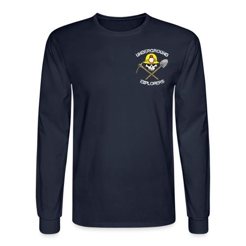 minerlogo1bblackfixed - Men's Long Sleeve T-Shirt