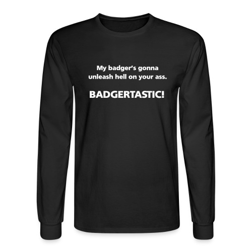 badgertasticfull2 simple - Men's Long Sleeve T-Shirt