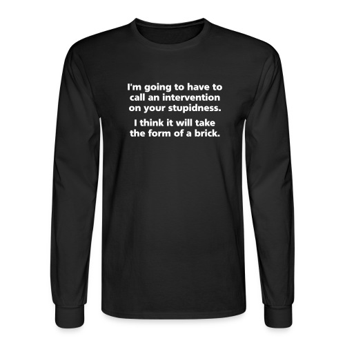 intervention simple - Men's Long Sleeve T-Shirt