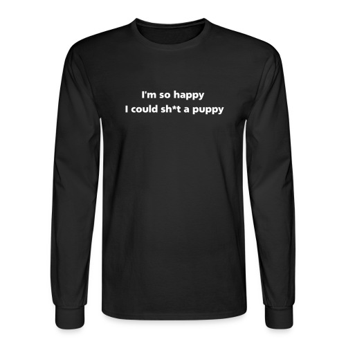 shitAPuppy simple - Men's Long Sleeve T-Shirt