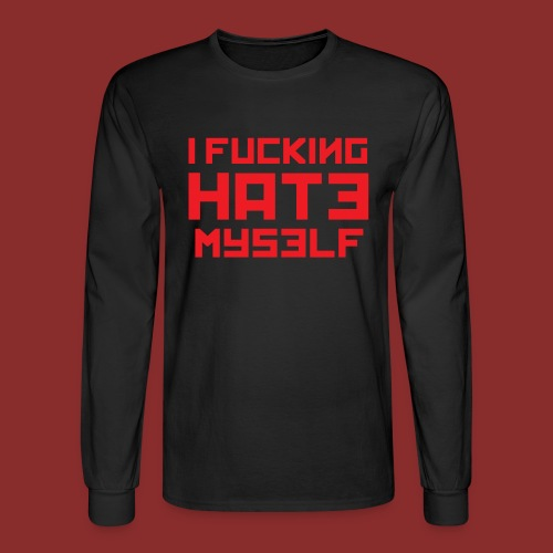 Hate Myself - Midnight N - Men's Long Sleeve T-Shirt