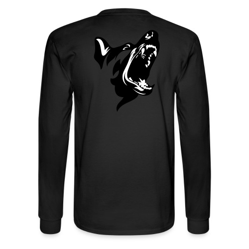 German Shepherd Dog Head - Men's Long Sleeve T-Shirt
