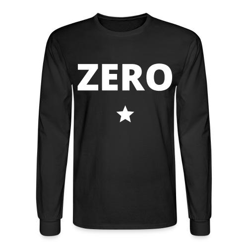 ZERO (star) - Men's Long Sleeve T-Shirt