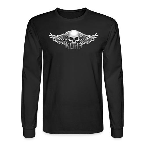 KDH3 Skull & Wings - Men's Long Sleeve T-Shirt