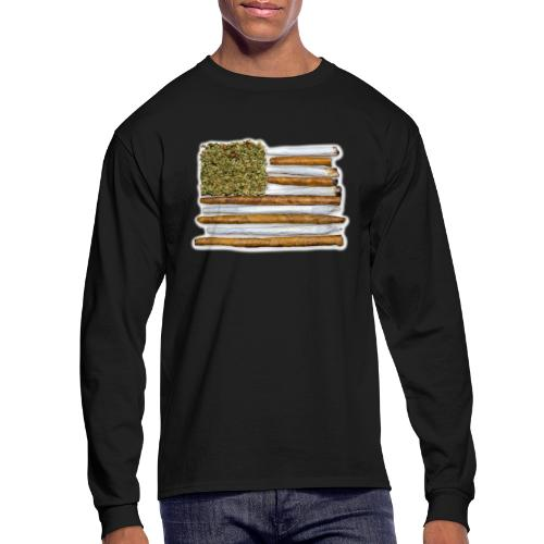 American Flag With Joint - Men's Long Sleeve T-Shirt