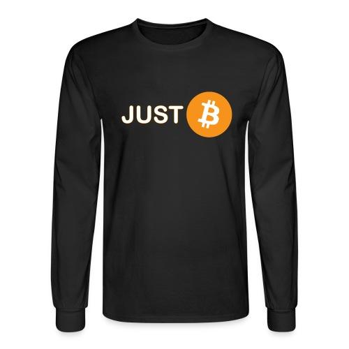 Just be - just Bitcoin - Men's Long Sleeve T-Shirt
