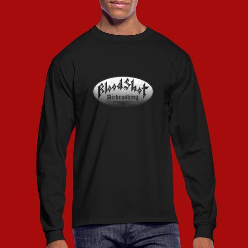 BloodShot Airbrushing Logo - Men's Long Sleeve T-Shirt