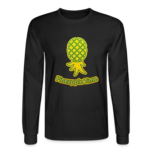 Swingers - Pineapple Time - Transparent Background - Men's Long Sleeve T-Shirt