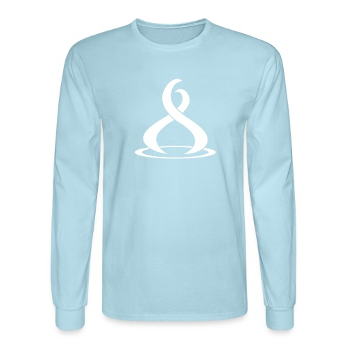 Fire Cryptocurreny Icon White - Men's Long Sleeve T-Shirt
