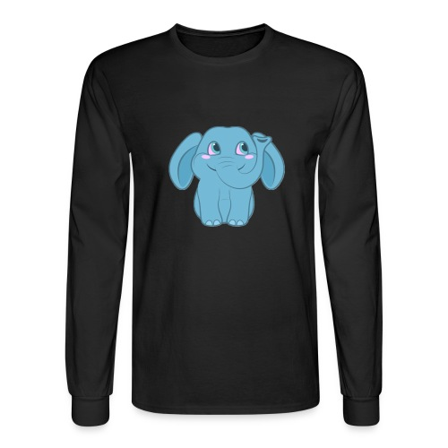 Baby Elephant Happy and Smiling - Men's Long Sleeve T-Shirt