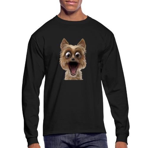 Dog puppy pet surprise pet - Men's Long Sleeve T-Shirt