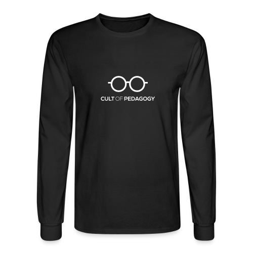 Cult of Pedagogy (white text) - Men's Long Sleeve T-Shirt