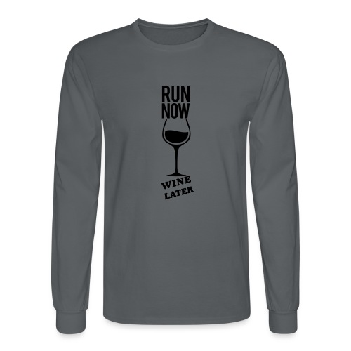 Run Now Gym Motivation - Men's Long Sleeve T-Shirt