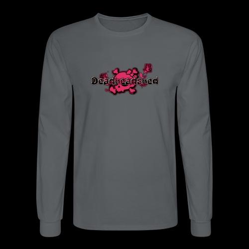 Pink skull DHS og logo - Men's Long Sleeve T-Shirt
