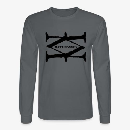 Matt Massey Logo Black - Men's Long Sleeve T-Shirt