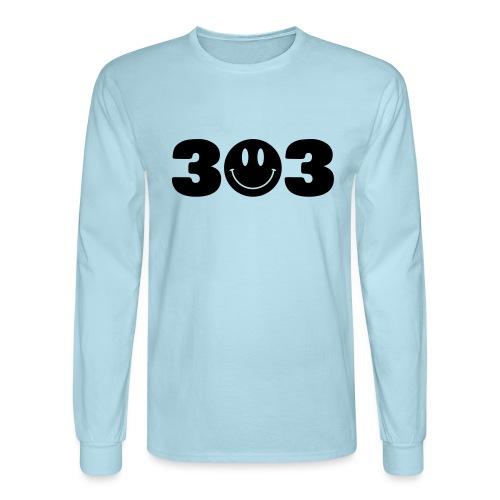 3 Smiley 3 - Men's Long Sleeve T-Shirt