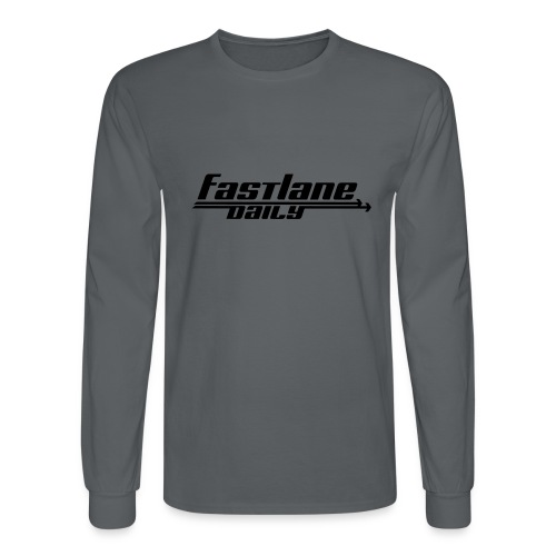 Fast Lane Daily logo - Men's Long Sleeve T-Shirt