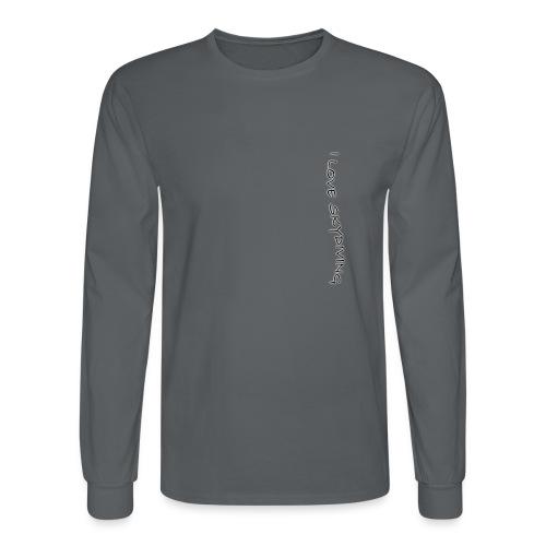 I love skydiving/T-shirt/BookSkydive - Men's Long Sleeve T-Shirt