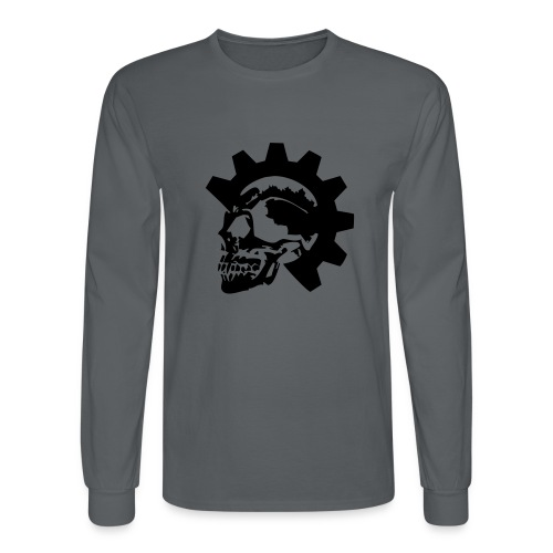 Gearhead Skull - Men's Long Sleeve T-Shirt