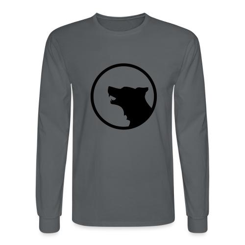 Wolf Silhouette Vector - Men's Long Sleeve T-Shirt