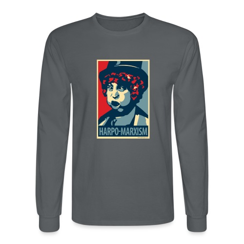 Harpo Marxism: parody of Obama poster - Men's Long Sleeve T-Shirt