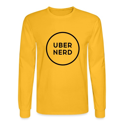 uber nerd logo - Men's Long Sleeve T-Shirt