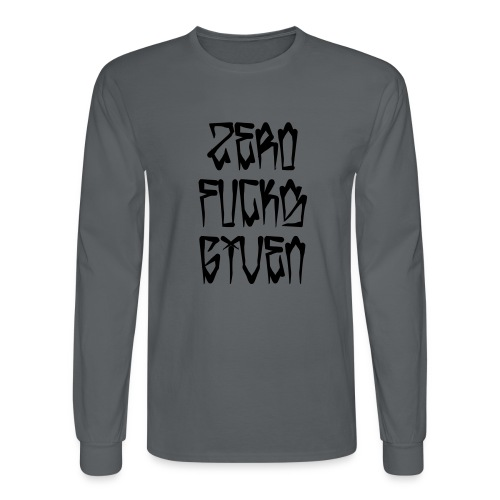 Zero Fucks Given - Men's Long Sleeve T-Shirt