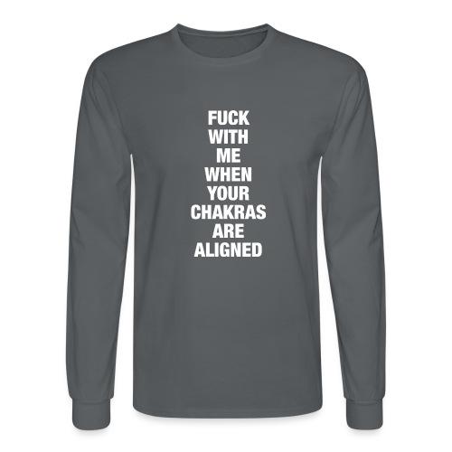 Chakras Aligned - Men's Long Sleeve T-Shirt