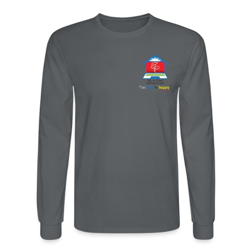 EP Logo with More Time For Happy! - Men's Long Sleeve T-Shirt