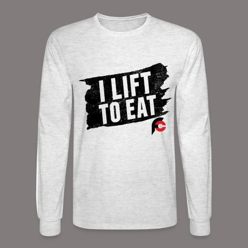 I Lift To Eat Red 3 - Men's Long Sleeve T-Shirt
