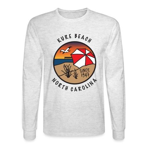 Kure Beach Sunrise-Black Lettering-Front Only - Men's Long Sleeve T-Shirt