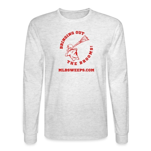 MLB Sweeps Logo and tagline with URL (Light) - Men's Long Sleeve T-Shirt