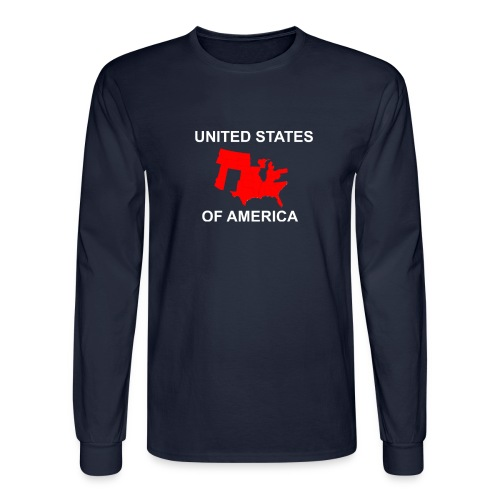 United States Fly Over Country - Men's Long Sleeve T-Shirt