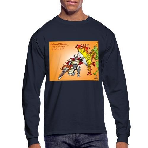 Spiritual Warrior by Faith T-Shirt Pray times - Men's Long Sleeve T-Shirt
