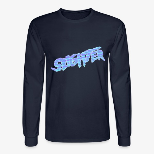 Retro Logo Glitch 2 - Men's Long Sleeve T-Shirt