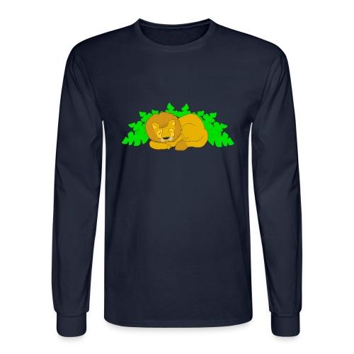 Sleeping Lion - Men's Long Sleeve T-Shirt
