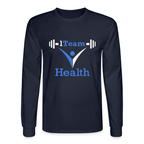 1TH - Blue and White - Men's Long Sleeve T-Shirt