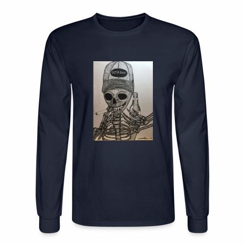 Get R Done Skele - Men's Long Sleeve T-Shirt