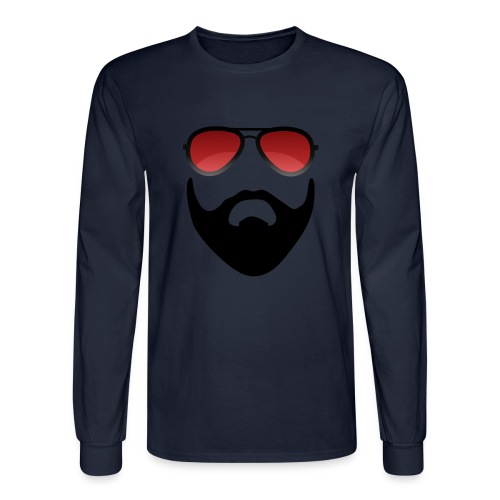 Beard and shades - Men's Long Sleeve T-Shirt