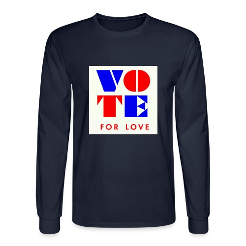 vote4love-sample - Men's Long Sleeve T-Shirt